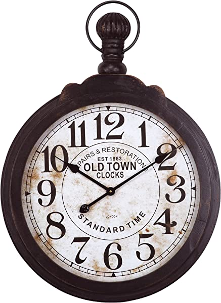 Yosemite Home Decor Black Metal Timepiece Wall Clock Multi