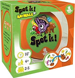 Spot It! Junior Animals Card Game | Game For Kids | Preschool Age 4+ | 2 to 5 Players | Average Playtime 10 minutes | Made...