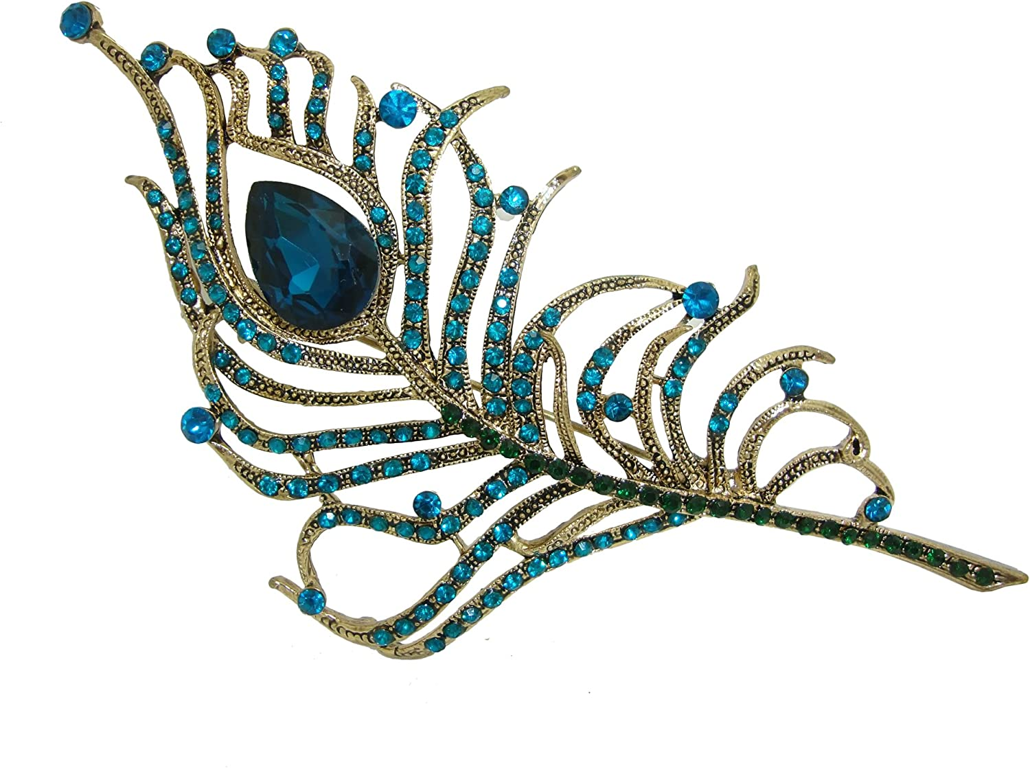 TTjewelry Gorgeous Peacock Feathers Rhinestone Crystal Brooch Ranking TOP12 Ranking TOP20 Pi