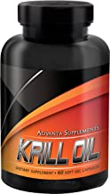 Krill Oil Capsules by Advanta Supplements | Control Cholesterol Level, Support Heart/Brain/Joint Health And Reduce Inflamm...