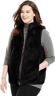 Women's Plus Size Fluffy Fleece Vest