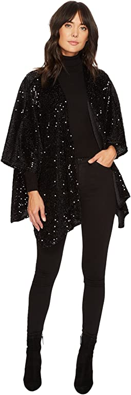 Steve Madden Sequined Velvet Split Back Topper