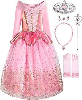 ReliBeauty Girls Princess Dress up Aurora Costume