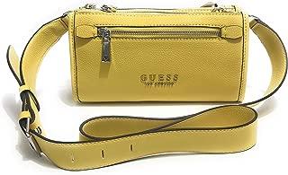 Borsa Guess tracolla Lias mini Double zip Crossbody 2 comparti ecopelle Whi Dimensioni borsa PICCOLA