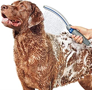 Waterpik PPR-252 Pet Wand Pro Dog Shower Attachment 13in, Blue/Grey System for Fast and Easy Bathing (Renewed)