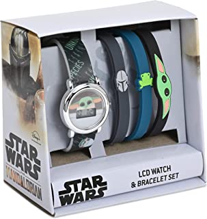 Star Wars- Set de reloj y pulsera LCD - El Mandalorian