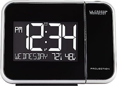 Rainandsnow Reloj Despertador de Madera LED, Reloj de Mesa con ...