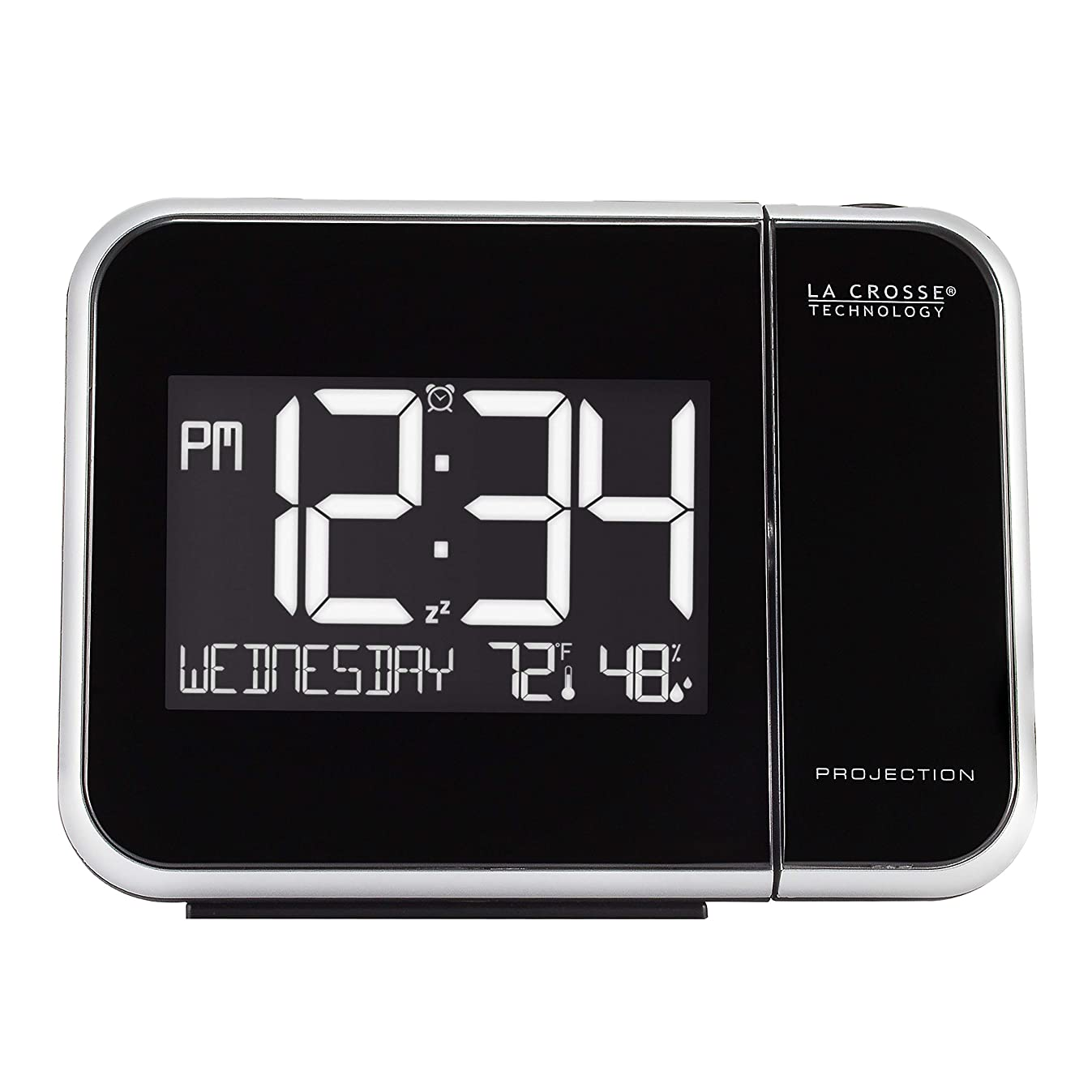 La Crosse Technology 616-1412 Projection Alarm Clock with Indoor Temperature