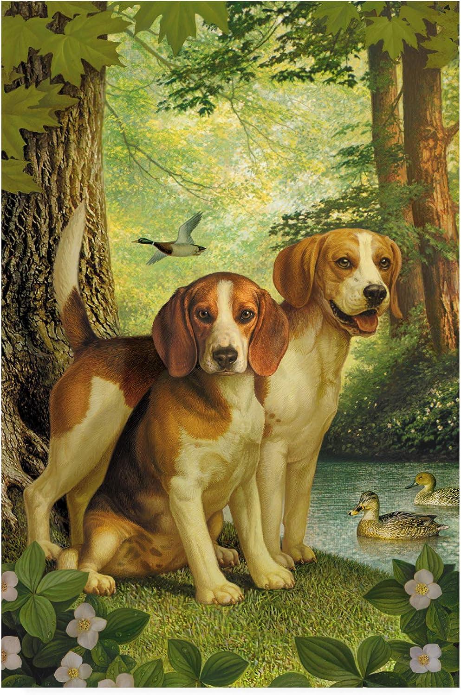 Trademark Fine Art Beagles and Duck