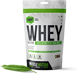 MuscleNectar (MN) 100% Whey Protein Powder (Blend of Concentrate & Isolate) with Digestive Enzymes for Men & Women, (Mango...