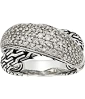 John Hardy - Classic Chain Arch Diamond Pave Overlap Ring