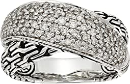 Classic Chain Arch Diamond Pave Overlap Ring