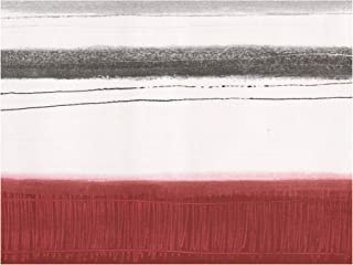 Prepasted Wallpaper Border - Abstract Modern Art Blood Red Black White Wall Border Retro Design, Roll 15 ft. x 7 in.