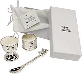 Best christening egg cup and spoon Reviews