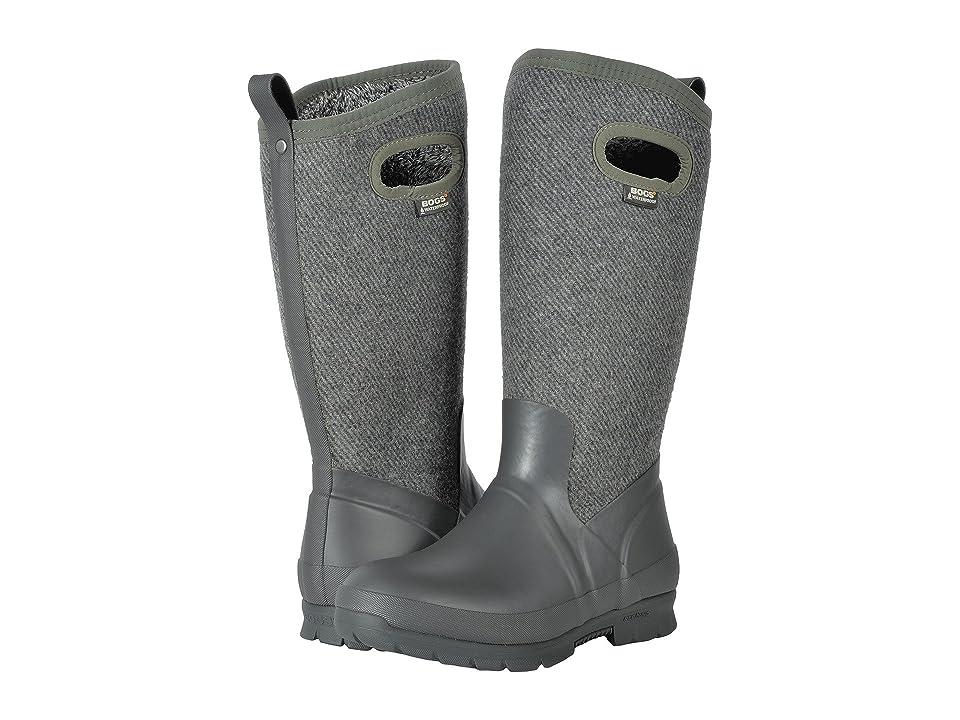 Bogs Crandall Tall Wool (Dark Gray) Women