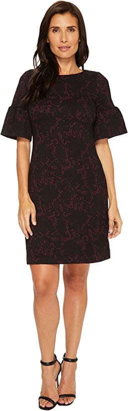 Ivanka Trump - Novelty Knit Bell Sleeve Dress