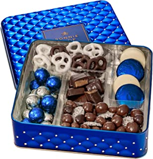 Bonnie & Pop- Chocolate and Nuts Gift Baskets, Reusable Food Tin-Great for Holidays, Christmas, Birthday, Sympathy & Corpo...