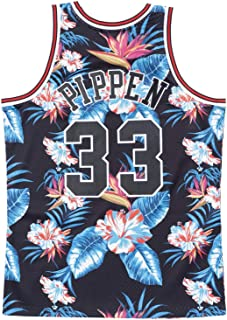 Mitchell and Ness Pippen Floral Bulls Swingman Jersey (18270-CBUNG182701SPI97)