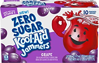 Kool Aid Jammers Grape Juice Pouches (6 oz Pouches, 4 Packs of 10)