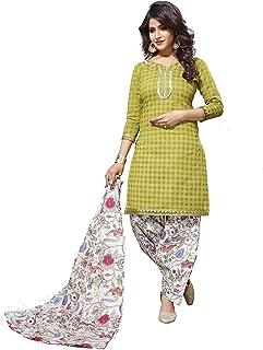 Minu Suits Salwar Suits Sets Cotton Green (Patyalahouse_11004)