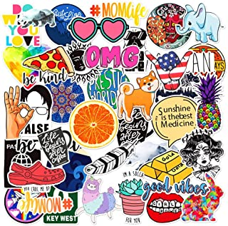 Cute Computer Stickers for Laptop 40PCS,Funny Water Bottle Aesthetic Stickers Waterproof for Hydro Flas,MacBook, iPad Skateboard Guitar,Luggage,Teens Girls,Women