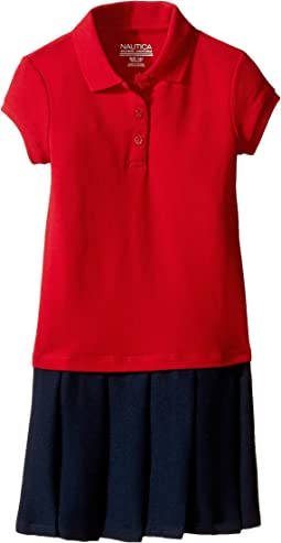 Nautica Kids Pique Polo Pleated Dress (Little Kids)