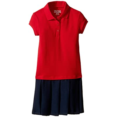 Nautica Kids Pique Polo Pleated Dress (Little Kids) (Red) Girl