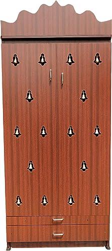 Hudson Wooden Mark Pooja Cabinet/Pooja mandapam (Multicolour)