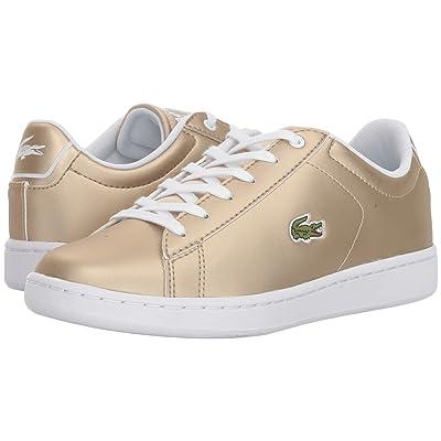 Lacoste Kids Carnaby Evo (Little Kid/Big Kid) (Gold/White) Kids Shoes