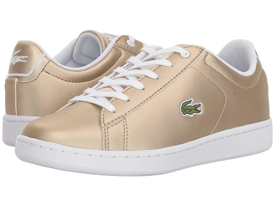 Lacoste Kids Carnaby Evo (Little Kid/Big Kid) (Gold/White) Kids Shoes
