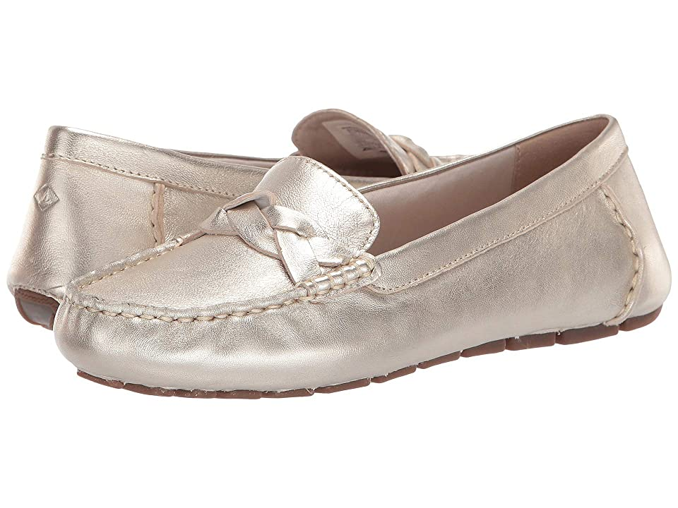 Sperry Bridge Driver Leather (Platinum) Women