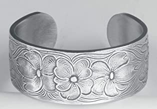 Pewter Flower of The Month Bracelet - Jul