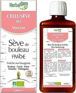 HerbalGem | Cellusève | Favorise l'Élimination de la cellulite | A base de Sève de Bouleau Fraîche | Recette Traditionnell...