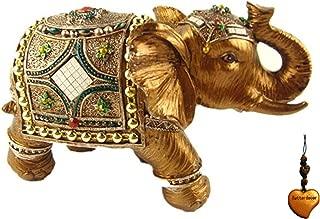 Betterdecor Feng Shui Trunk up Lucky Elephant Statue for Good Fortune-4