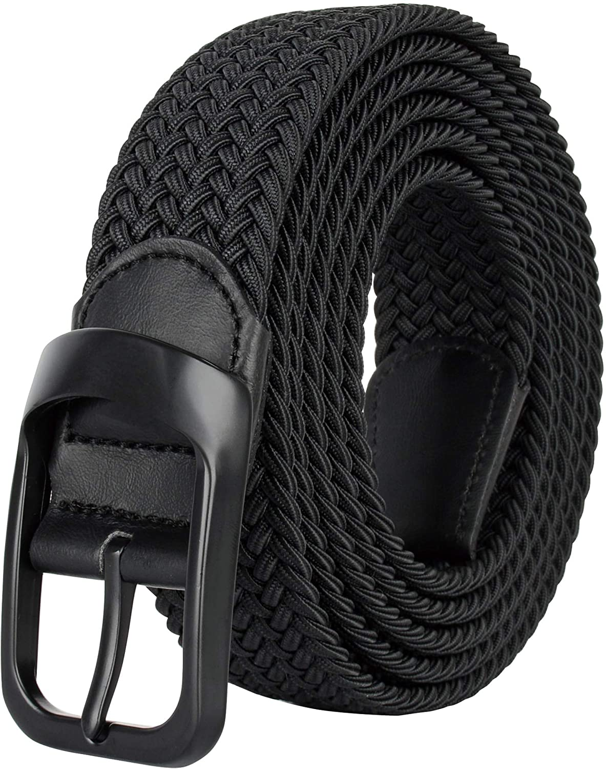 Drizzte Plus Size 43'' to 75'' Mens Elastic Stretch Belts Big and Tall Belt