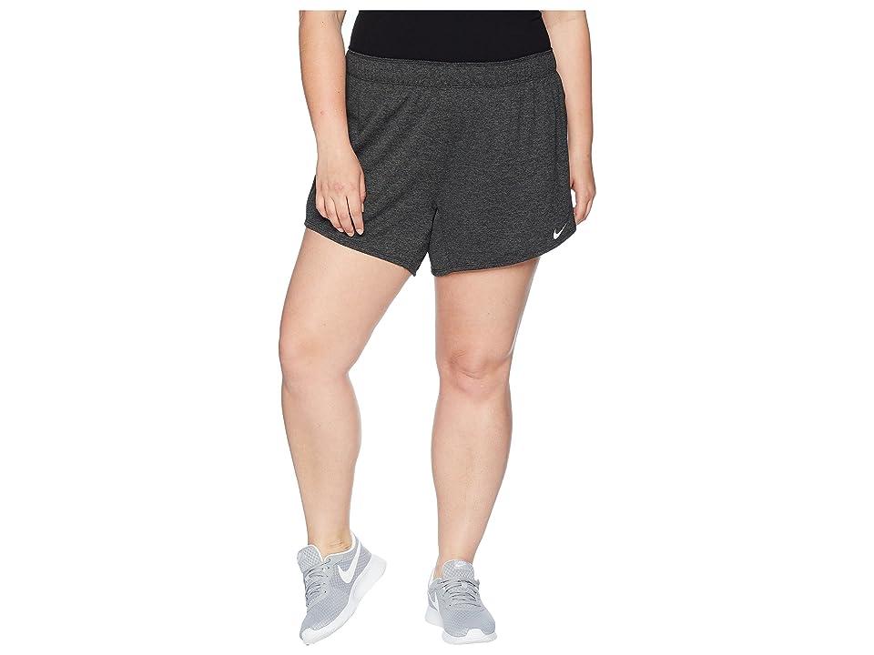 Nike Flex Attack TR5 Shorts (Size 1X-3X) (Black/Heather/White) Women