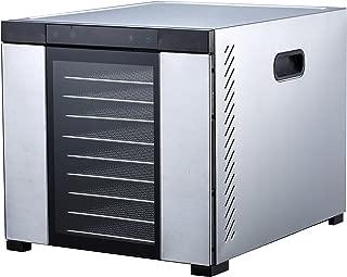 "Samson ""Silent"" 10 Tray ALL Stainless Steel Dehydrator - Digital Controls - Glass Door"