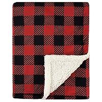 Deals on Hudson Baby Unisex Baby Plush Blanket w/Sherpa Back