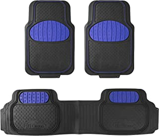 FH Group F11500BLUE Blue Heavy Duty Touchdown Rubber Floor Mat (Red Full Set Trim to Fit)