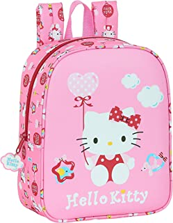 Mochila Infantil de Hello Kitty Balloon, Rosa Claro, 220x100x270mm