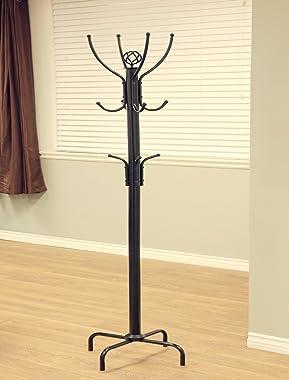 Frenchi Furniture CR002 Coat Rack, 12 Hook, Black
