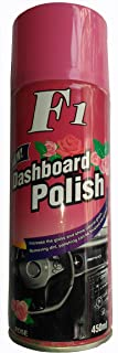 f22 Car Dashboard Polish Wax Spray for Plastic, Rubber, Leather Seat (Rose)