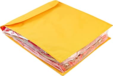 My Gift Booth Nylon Saree Cover, Yellow, 43 cm x 31 cm x 15 cm, MGBNEW 492