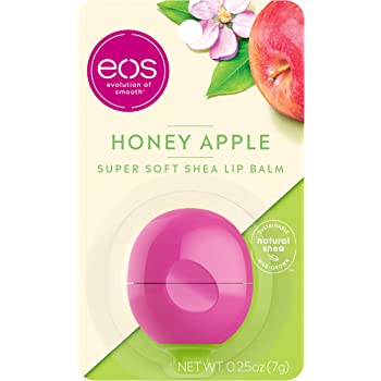 eos Super Soft Shea Lip Balm - Honey Apple | 24 Hour Hydration | Lip Care to Moisturize Dry Lips | Gluten Free | 0.25 oz