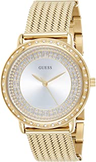 Guess Women's Silver Dial Stainless Steel Band Watch - GUE_W0836L3