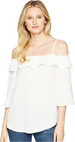 Off the Shoulder Top with Straps & Ruffle