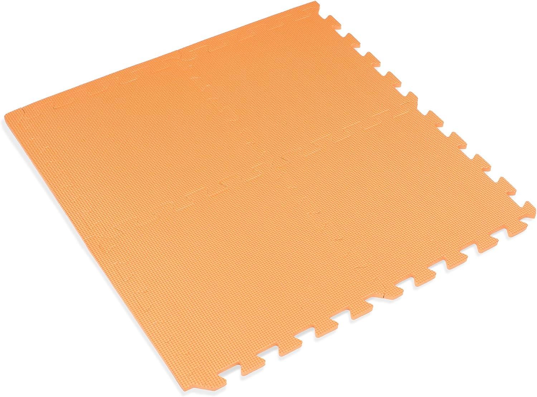 We Sell Mats 12  x 12  x 3 8 100 Sq Ft orange Interlocking Foam Mat