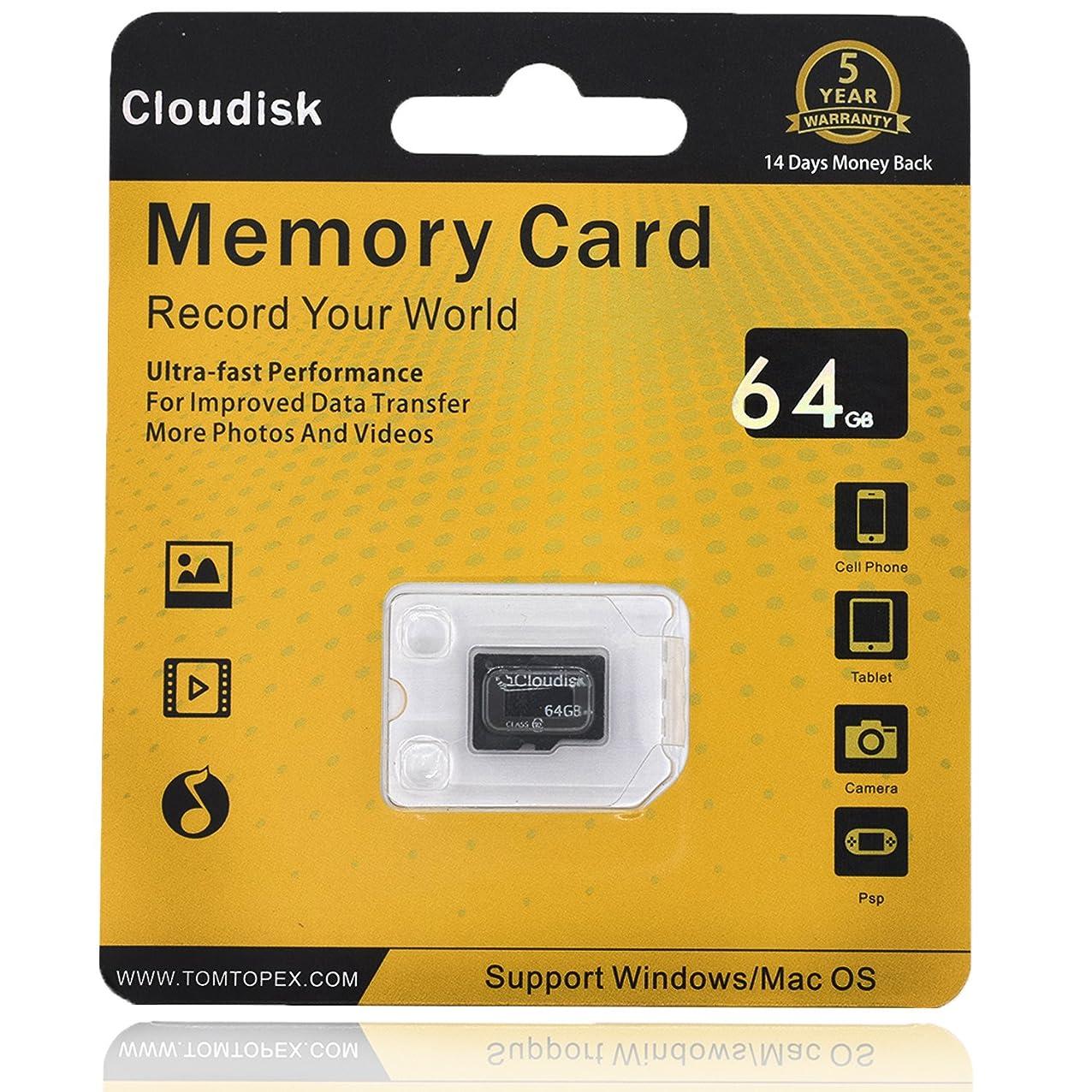 リング周囲特異なcloudiskメモリカード64?GB Micro SDカードExtreme Pro microSDカードProfessional 1080pフルHDビデオ撮影TFフラッシュ