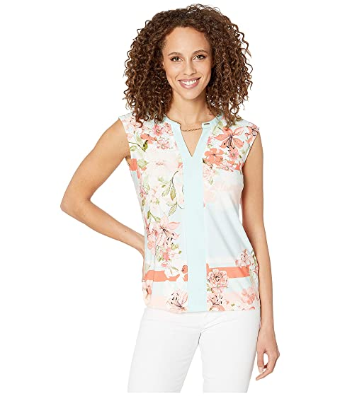 fc4b57d7 Calvin Klein Printed Sleeveless Top with Chain at Zappos.com
