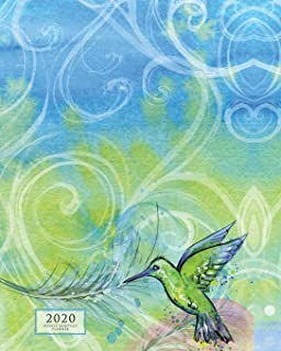 Weekly & Monthly Planner: 12 Month Diary Vertical Calendar Days, Appointment Schedule, Large Desktop Organizer, Hummingbird (2020 Planners & Year Agendas)